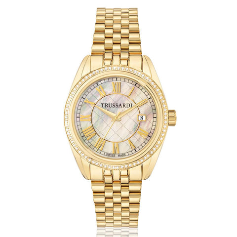 Trussardi Galleria Mother of Pear Dial Ladies Watch
