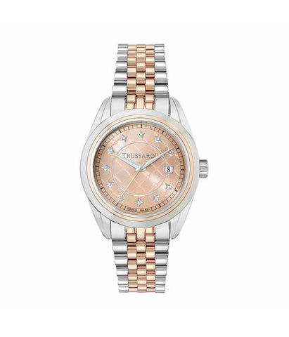 Trussardi Galleria Rose Gold Dial Ladies Watch
