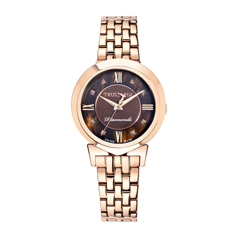 Trussardi Antilia Brown MOP Dial Ladies Watch