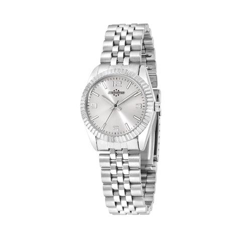 Chronostar Watch Ladies Silver Dial Bracelet