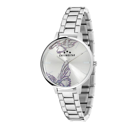 CHRONOSTAR Watch Ladies SILVER DIAL BR SS
