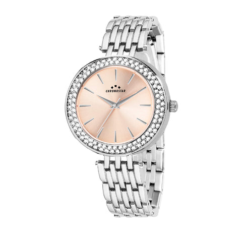 CHRONOSTAR Watch Ladies ROSE DIAL SS BR
