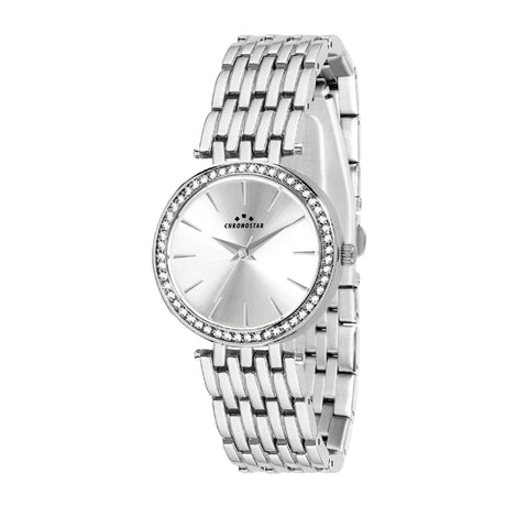 CHRONOSTAR Watch Ladies SILVER DIAL SS BR