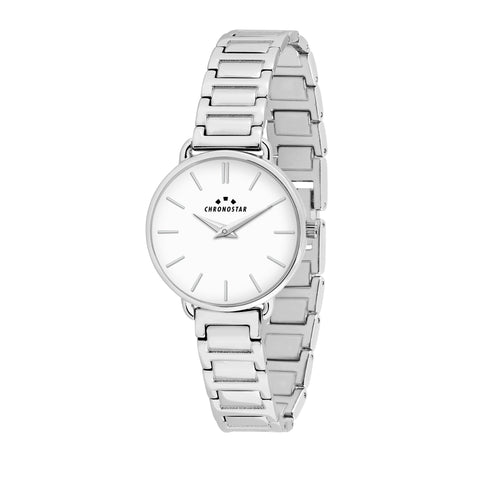CHRONOSTAR Watch Ladies WHITE DIAL BR SS
