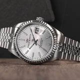 Philip Watch CARIBE Gents W/SILVER DIAL BR SS Watch