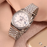 Philip Watch Caribe Ladies White MOP Dial SS Bracelet