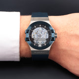MASERATI BLACK SKELETON DIAL GENTS WATCH