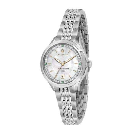 Maserati Ladies White Dial Bracelet Watch