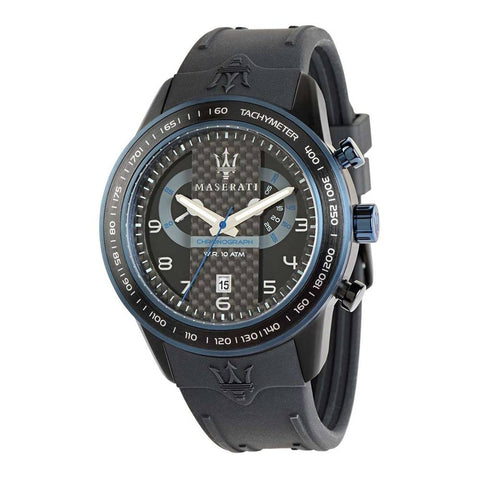 Maserati Watch Gets Black Dial Black Strap