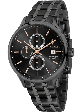 Maserati Watch Gents Black Dial Black Bracelet