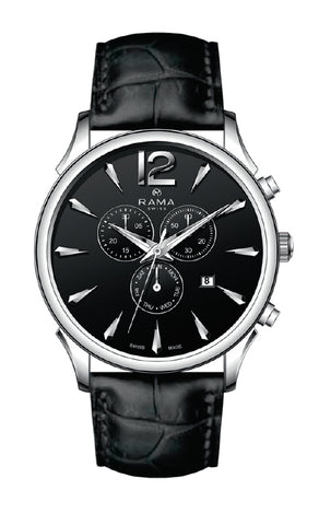 RAMA SWISS  Gents Black DIAL BLACK Strap WATCH