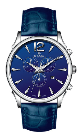 RAMA SWISS Gents Blue DIAL BLUE Strap WATCH