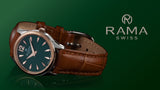 RAMA WATCH  LADIES GREEN DIAL BROWN LEATHER STRAP