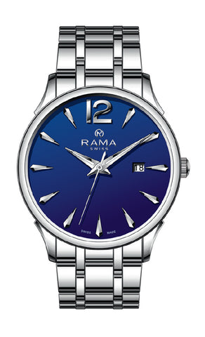 RAMA SWISS Gents Blue DIAL SS Metal WATCH