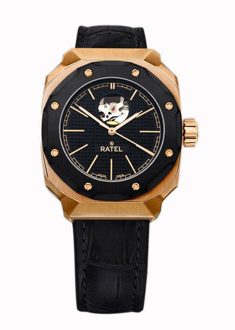 Ratel Gents ROSE GOLD OPEN HEART Watch