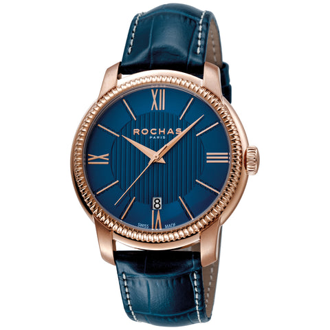 Rochas Paris Blue Dial Gents Watch