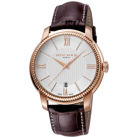 Rochas Paris Silver Dial Gents Watch