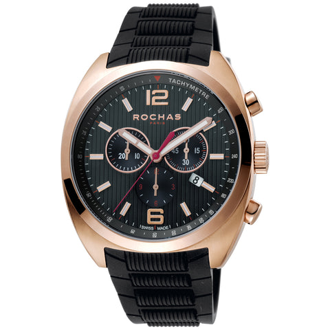Rochas Paris Black Dial Gents Watch