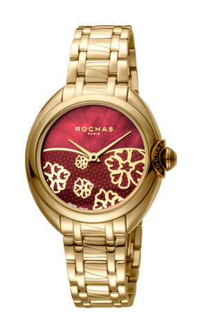 Rochas Red MOP / Red Dial Ladies Watch