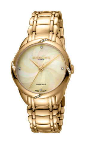 Rochas Champagne MOP pattern Dial Ladies Watch