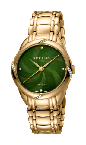Rochas Dark Green MOP pattern Dial Ladies Watch