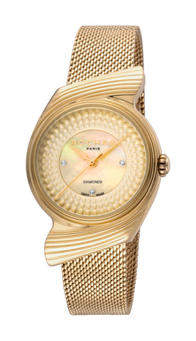 Rochas Champagne Dial Ladies Watch