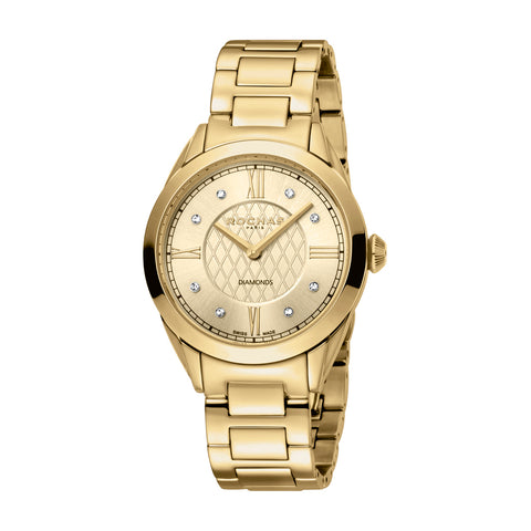 Rochas Paris Champagne Dial Ladies Watch