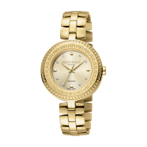 Rochas Paris Gold Dial Ladies Watch