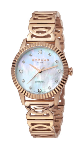 ROCHAS PARIS WATCH LADIES WHITE MOP DIAL RG