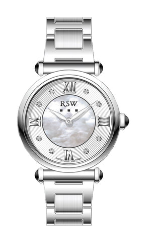RSW White Dial Ladies Watch