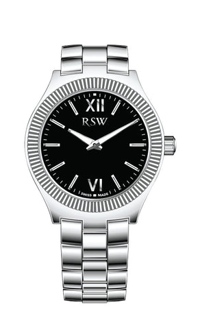 RSW Black Dial Ladies Watch