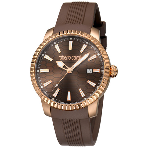 Roberto Cavalli Chocolate Dial Gents Watch