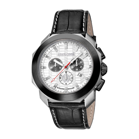 Roberto Cavalli White Dial Gents Watch