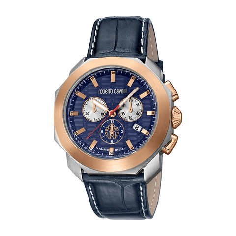 ROBERTO CAVALLI BY FM DARK BLUE DIAL GENTS WATCH