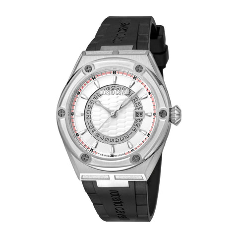 ROBERTO CAVALLI BY FM WHITE DIAL GENTS WATCH