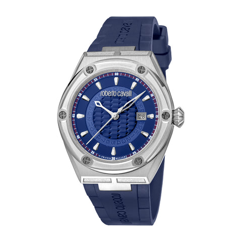 ROBERTO CAVALLI BY FM BLUE DIAL GENTS WATCH