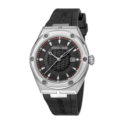 ROBERTO CAVALLI BY FM BLACK DIAL GENTS WATCH