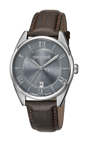 Roberto Cavalli Light Grey Sunray Dial Gents Watch