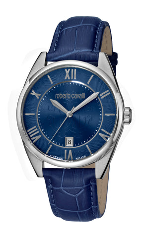 Roberto Cavalli Dark Blue Sunray Dial Gents Watch
