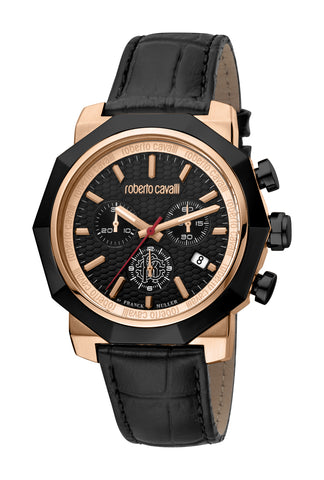 Roberto Cavalli by FM Watch Gents Black Dial