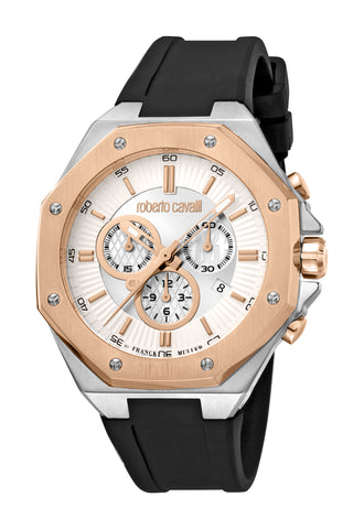 Roberto Cavalli by FM Watch Gents Silver Dial
