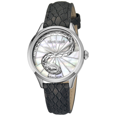 Roberto Cavalli White Dial Ladies Watch