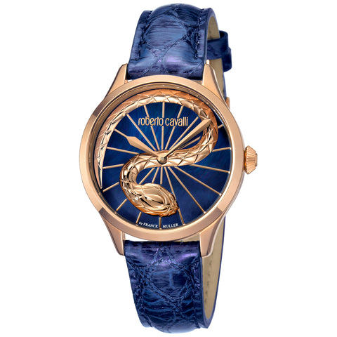 Roberto Cavalli Blue Dial Ladies Watch