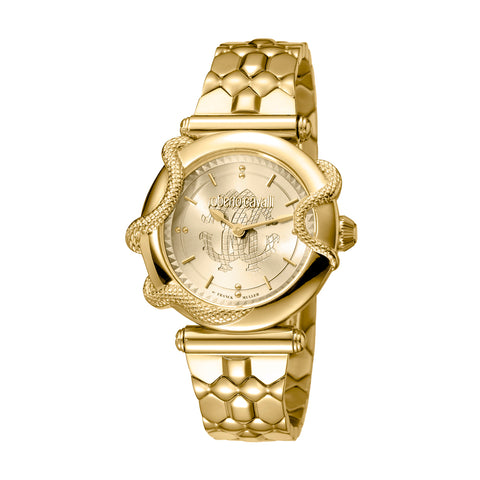 Roberto Cavalli Gold Dial Ladies Watch