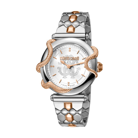 Roberto Cavalli Silver Dial Ladies Watch