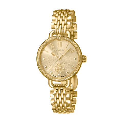 Roberto Cavalli Ladies Champagne Dial GP Bracelet Watch