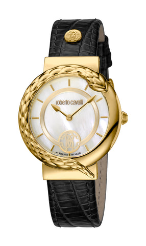 Roberto Cavalli White MOP Dial Ladies Watch