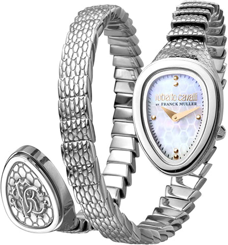 Roberto Cavalli by FM WomenSS Bracelet Watch White mop Dial