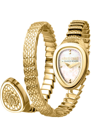 Roberto Cavalli by FM Women GP Bracelet Watch Champagne mop Dial