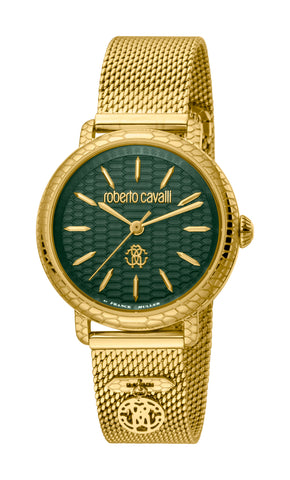 Roberto Cavalli by FM Women GP Bracelet Watch Dark green  Dial